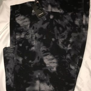Torrid Black/Grey Tie Dye Pixie Leggings